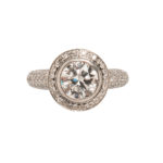 Platinum and Diamond Ring (Lot 1187, Estimate: $3,000-5,000)
