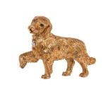 18kt Gold Golden Retriever Brooch, Tiffany & Co. (Lot 1019, Estimate: $800-1,200)