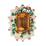 Retro Bicolor Gold and Citrine Clip Brooch, J.E. Caldwell & Co. (Lot 1115, Estimate: $6,000-8,000)