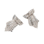 Art Deco Platinum and Diamond Dress Clips (Lot 1062, Estimate: $8,000-10,000)
