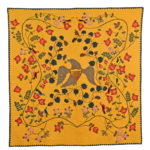 Remarkable Pieced and Appliqued Cotton Civil War Memorial Quilt, made by Mary Bell Shawvan, c. 1863 (Lot 65, Estimate: $40,000-60,000)
