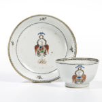 Society of the Cincinnati Tea Bowl and Saucer Made for and Owned by General Benjamin Lincoln, China, c. 1790 (Lot 45, Estimate: $10,000-15,000)
