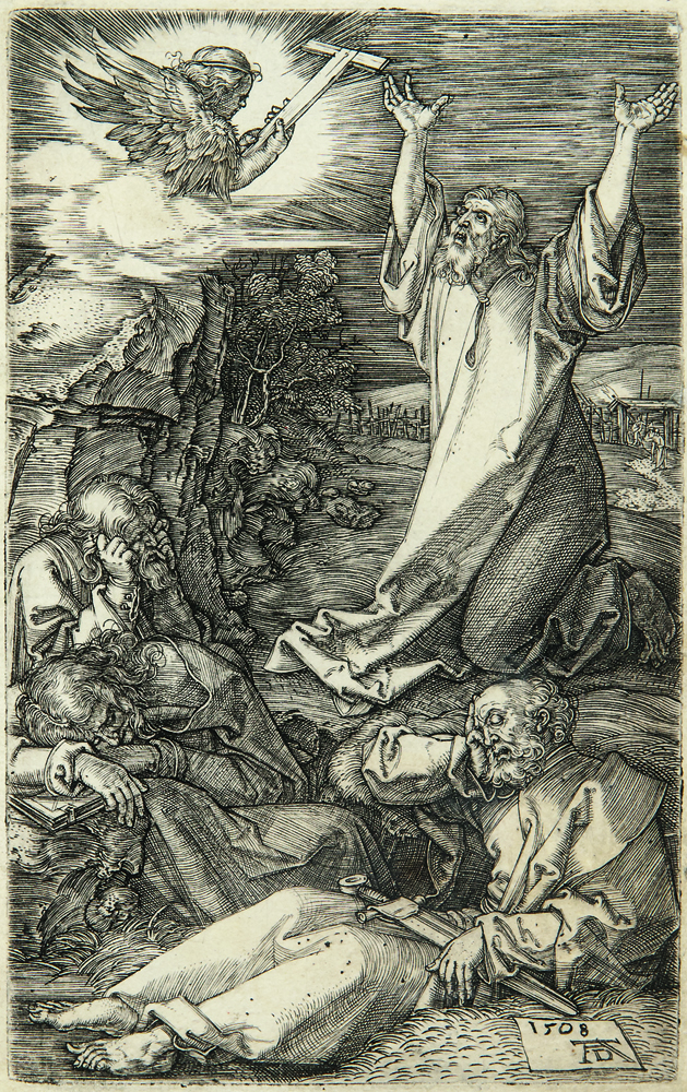 Albrecht Dürer (German, 1471-1528) Christ on the Mount of Olives, 1508 from The Engraved Passion, 1508-1513, engraving (Lot 1, Estimate: $700-900)