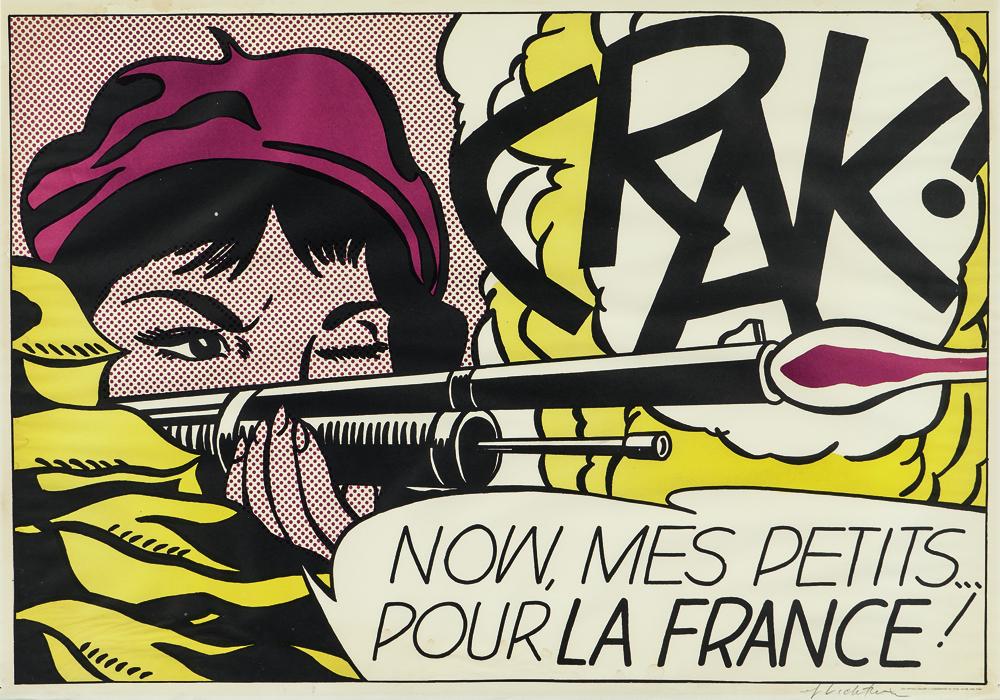 Roy Lichtenstein (American, 1923-1997)Crak!,1964, offset color lithograph (Lot 68, Estimate: $7,000-9,000)