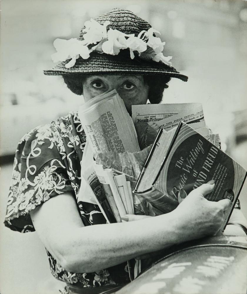 Louis Faurer (American, 1916-2001), Freudian Woman, NYC, 1947, printed later, gelatin silver print (Lot 121, Estimate: $1,000-1,500)