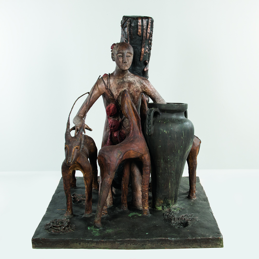 Mimmo Paladino (Italian, b. 1948), Assediato/A Surrounded Figure, 1983, bronze (Estimate: $40,000-60,000)
