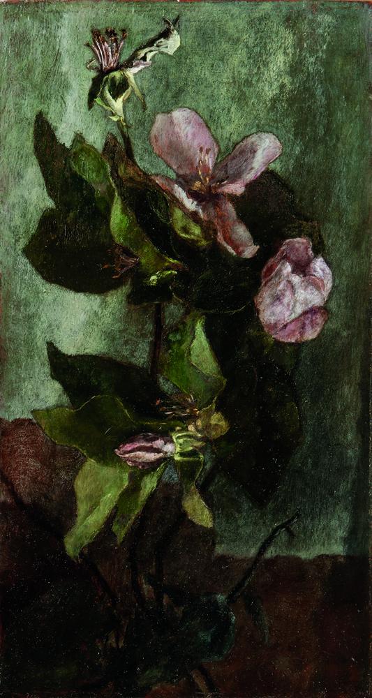 John La Farge (American, 1835-1910) Quince Blossoms in Sunlight, 1863, oil (Estimate: $80,000-120,000)