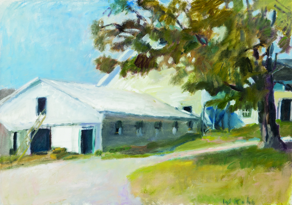 Wolf Kahn (German/American, b. 1927), Milking Parlor, 1982, oil on canvas (Estimate: $12,000-25,000)