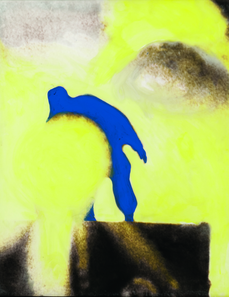 John Baldessari (American, b. 1931) Man with Light, 1990, mixed media (Estimate: $40,000-60,000)