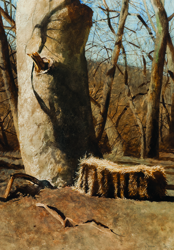 Jamie Wyeth (American, b. 1946), Marathon Bale, 1975, watercolor on paper (Estimate: $25,000-35,000)