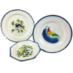 Three Staffordshire Peafowl-decorated Pearlware Plates (Lot 3, Estimate: $400-600)