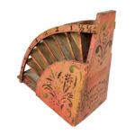 Painted and Stenciled Countertop Bag Rack (Lot 140, Estimate: $300-500)