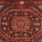Large-Pattern Holbein Carpet Fragment, Turkey, 16th century, 3 ft. 9 in. x 4 ft. 11 in. (Lot 113, Estimate: $4,000-5,000)
