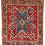 Konya Rug, Turkey, c. 1850 or earlier, 5 ft. 11 in. x 5 ft. 5 in. (Lot 114, Estimate: $3,000-3,500)