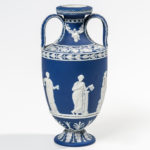 Wedgwood Dark Blue Jasper Dip Double-handled Urn (Lot 1013, Estimate: $400-600)