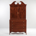 Georgian Mahogany Bookcase on Chest (Lot 1047, Estimate: $400-500)