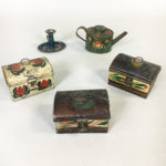 Five Miniature Tole Items (Lot 1149, Estimate: $400-600)