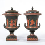 Pair of Wedgwood Encaustic Decorated Krater Vases and Covers, England, early 19th century (Lot 68, Estimate: $5,000-7,000)