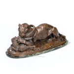 After Antoine-Louis Barye (French, 1795-1875) Tigre Devorant un Gavial (Lot 529, Estimate: $4,000-6,000)