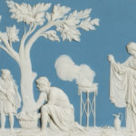 Wedgwood Light Blue Jasper Plaque, England, 19th century (Lot 143, Estimate: $500-700)