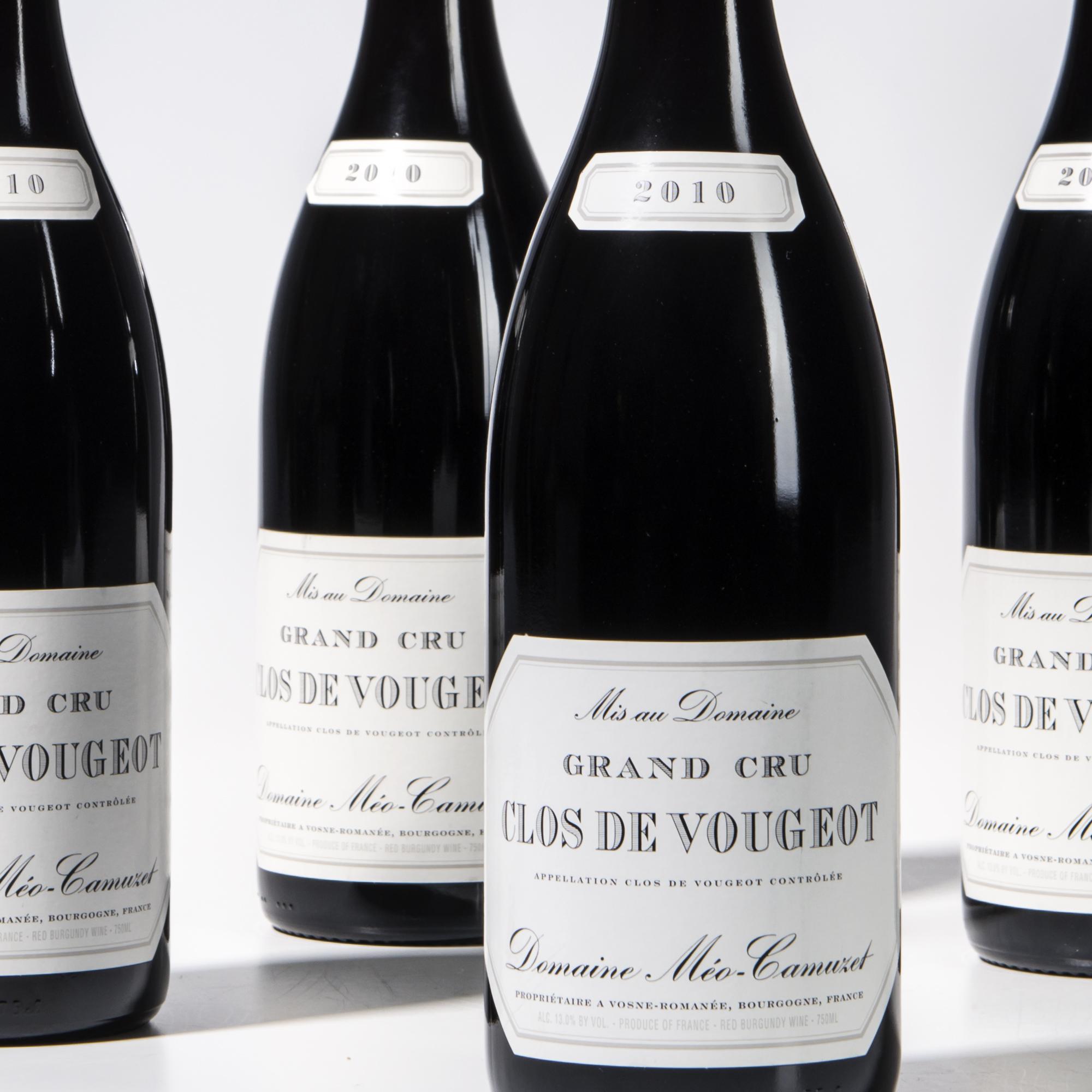 Meo Camuzet Clos de Vougeot 2010, 4 bottles