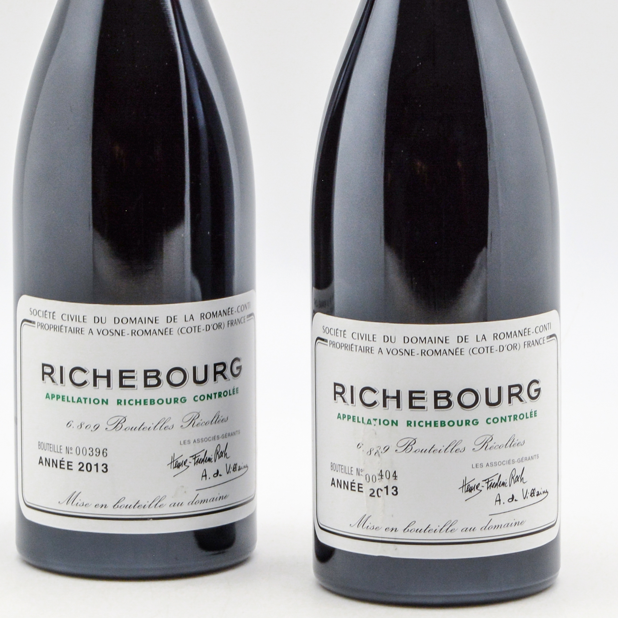 Domaine de la Romanee Conti Richebourg 2013, 2 bottles