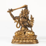 Gilt-bronze Figure of Manjushri, Sino-Tibet, 18th century or earlier (Lot 254, Estimate: $8,000-10,000)