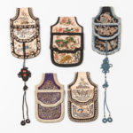 Five Embroidered Belt Purses, China, 19th/20th century (Lot 409, Estimate: $500-700)