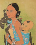 Tay Chee Toh (b. 1941) Watercolor, Mother and Child, Malaysia, 1968 (Lot 436, Estimate: $2,000-3,000)