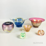 Six Pieces of Correia Art Glass (Lot 1167, Estimate: $350-450)