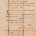 Washington, George (1732-1799) Certificate of Military Discharge for Joel Doolittle (1753-1813) with Badge of Merit, Signed, 9 June 1783 (Lot 1034, Estimate: $5,000-7,000)