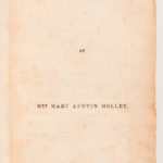 Holley, Mary Austin Phelps (1784-1846) Texas (Lot 1110, Estimate: $4,000-6,000)