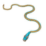 Victorian Gold and Turquoise Snake Necklace, c. 1845 (Lot 4, Estimate: $8,000-10,000)