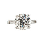 Platinum and Diamond Solitaire (Lot 209, Estimate: $60,000-80,000)