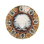 Antique Gold, Hardstone Cameo, and Enamel Brooch (Lot 1000, Estimate: $1,000-1,500)