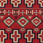 Navajo Germantown Pictorial Weaving (Lot 510, Estimate: $4,000-6,000)