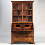 Georgian Mahogany Secretary Bookcase, England, late 18th/early 19th century (Lot 1535, Estimate: $700-900)