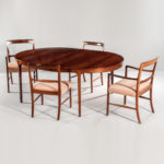 Ole Wanscher for AJ Iversen Brazilian Rosewood Dining Table and Eight Forum Chairs (Lot 292, Estimate: $25,000-35,000)