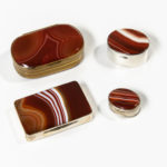 Four Agate Boxes (Lot 1106, Estimate: $300-500)