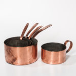 Five Varied Handled Copper Pots (Lot 1078, Estimate: $100-150)