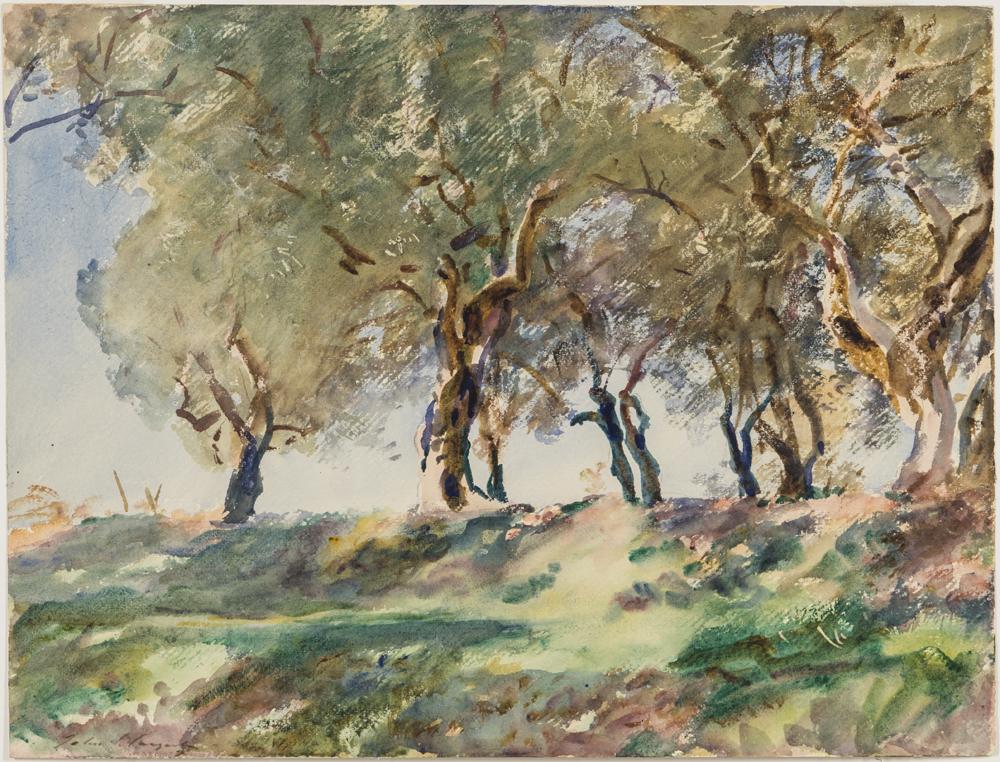 John Singer Sargent (American, 1856-1925), Olive Grove (Lot 320, Estimate: $35,000-55,000)