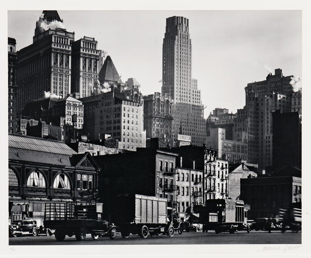 Berenice Abbott (American, 1898-1991) West Street, 1929-30, printed later (Lot 110, Estimate: $1,500-2,000)