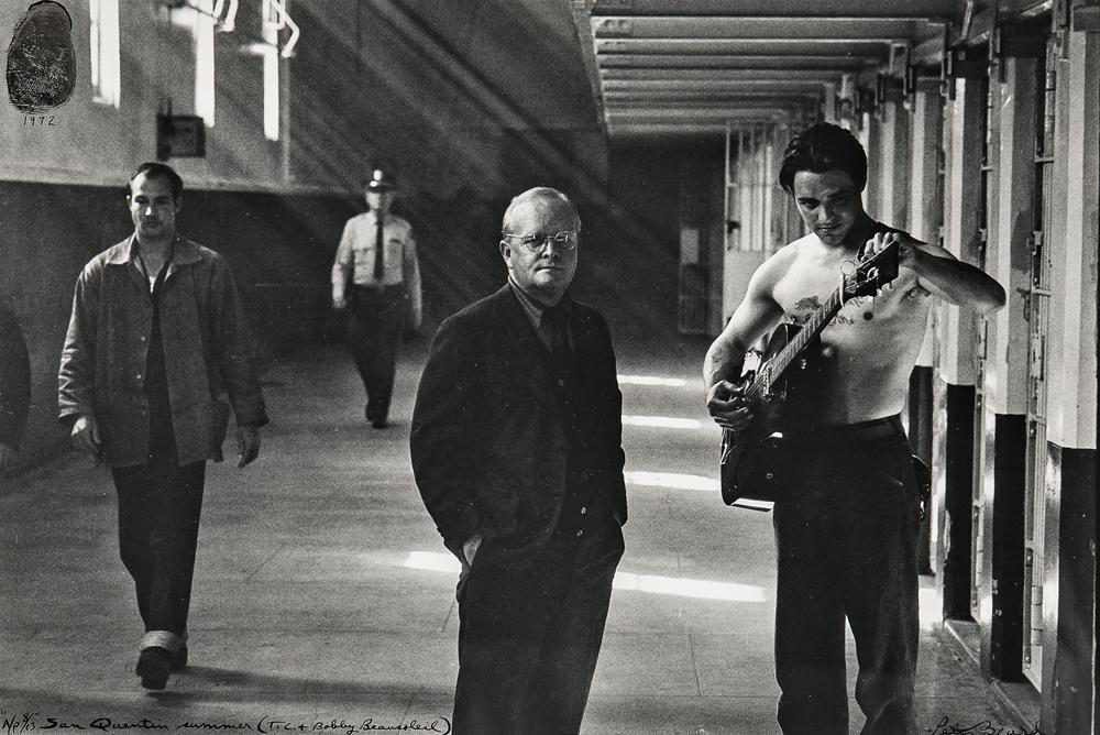 Peter Beard (American, b. 1938) San Quentin Summer (T.C.+ Bobby Beausoleil), 1972 (Lot 122, Estimate: $400-600)