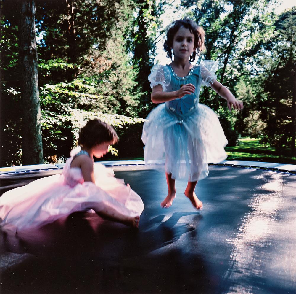 Nan Goldin (American, b. 1953) Lily & Isabel on Trampoline, 1996 (Lot 125, Estimate: $1,000-1,500)
