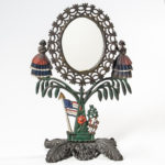 Paint-decorated Cast Iron Jenny Lind Mirror (Lot 184, Estimate: $200-300)