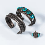 Two Navajo Bracelets and a Ring (Lot 1388, Estimate: $400-500)