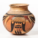 Contemporary Hopi Polychrome Pottery Jar (Lot 1510, Estimate: $400-500)