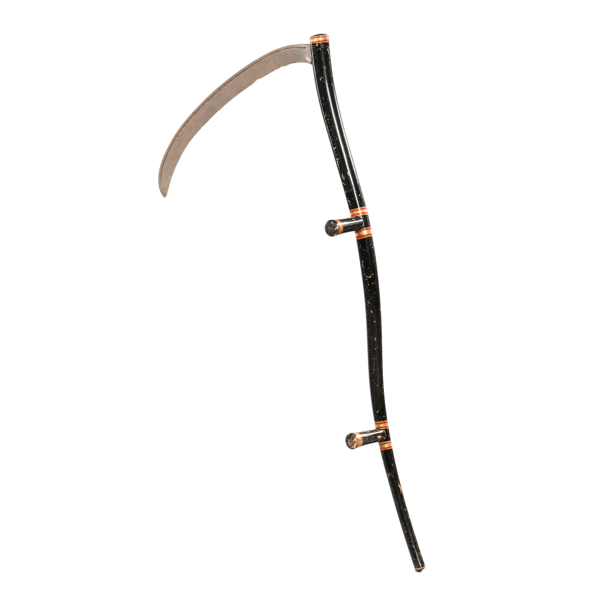 Black- and Silver-painted Odd Fellows Scythe (Lot 1786, Estimate: $600-800)