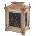 Gray- and Blue-painted Odd Fellows Altar (Lot 1794, Estimate: $300-500)
