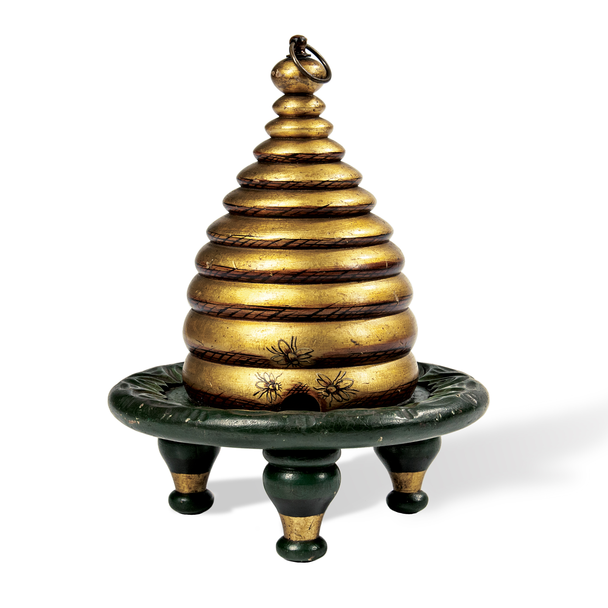 Gold- and Green-painted Rebekah Beehive (Lot 1818, Estimate: $800-1,200)